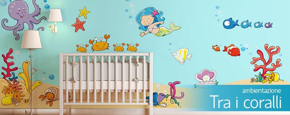 Adesivi murali per bambini stickers per camerette for Decorazioni camerette bambini